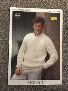 """Sirdar Cotton DK Knitting Pattern 8986 Mens Jumper 36""""-46 ..."""
