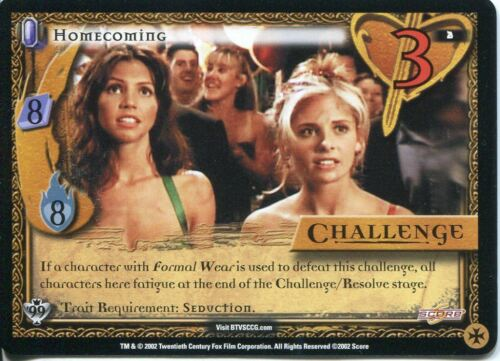 Buffy TVS CCG Limited Class Of 99 Common Card #2 Homecoming