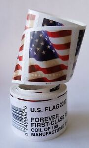 US Flag 2017 Forever Stamps - Roll of 100- Verified And Checked By USPS