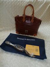 Dooney Bourke Satchel Croc Leather RED w new reg card & dust bag NEW w/ op strap