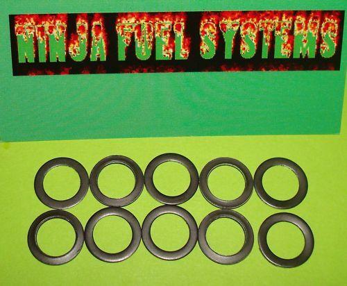 HOLLEY 4150 METAL SIGHT PLUG GASKET 10 PACK