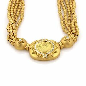 Hilat-Diamond-24k-Gold-Ancient-Inspired-Handcrafted-Multistrand-Necklace