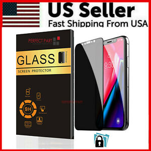9H Privacy Anti-Spy Tempered Glass Screen Protector For iPhone 12 Pro Max Mini
