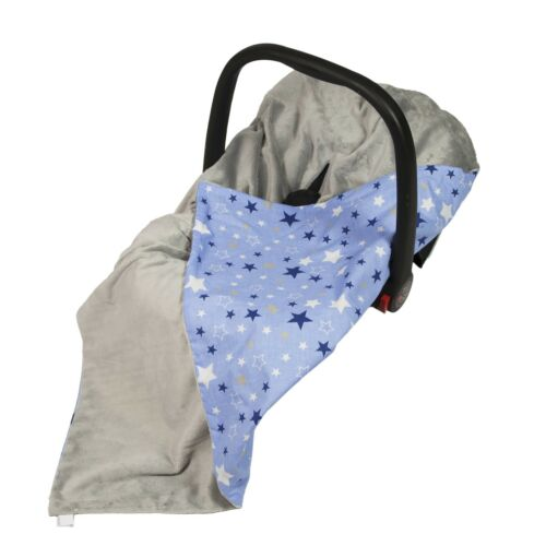 New Boys Blue Galaxy Stars Baby Wrap For Car Seat Cosytoes Car Seat Blanket