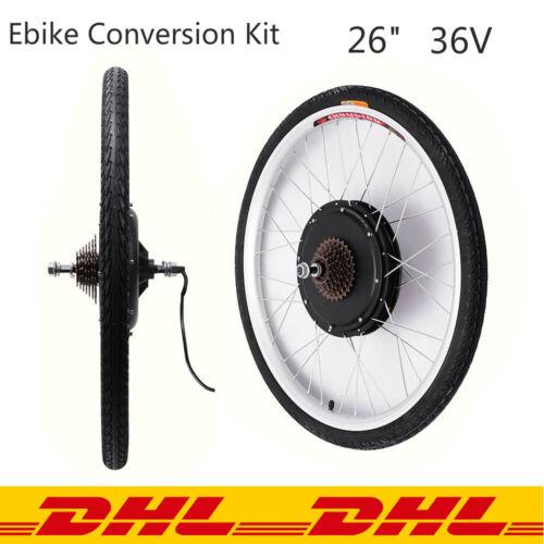 36V 250W Kit Vélo Ebike Kit Conversion électrique 26 Roue Arrière Motorisée DHL