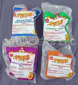 McDonald-039-s-Toys-Marvel-Comics-Spider-Man-Webrunner-Mary-Jane-amp-Hobgoblin-Glider