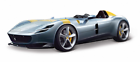 Bburago Ferrari Monza SP1 1:18 Modellino Auto - Grigio Metalizzato/Giallo