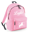 Personalised Kids Backpack Any Name Unicorn Girls Back To School Bag BG125j