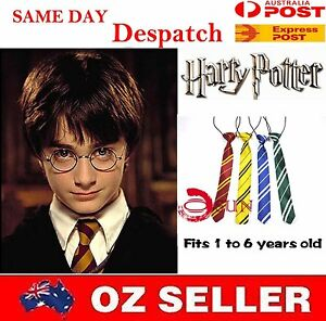 Harry-Potter-Costume-Skinny-Elastic-Neck-Tie-Necktie-Boys-Kids-1-6-Years-Old