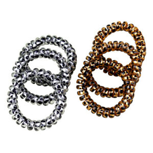 5 PCS Elastic Telephone Wire Cord Head Ties Hair Band Rope Ponytail//Jewelry-Ring