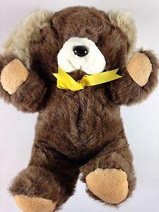 Fairview Bear VTG Large Stuffed Funny Plush Bunny Rabbit Ears Yellow Ribbon Bow