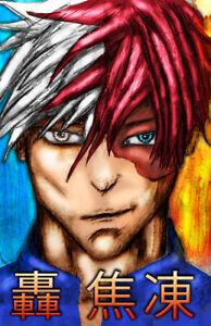 Details About My Hero Academia Shoto Todoroki Anime Art 11 X 17 Quality Poster Manga