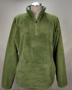 dac202371 Details about The North Face Womens Osito Fleece Jacket Size XL Green Fuzzy  Zip Pullover TNF