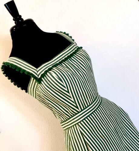 Vintage 50s Tina Leser Museum Worthy Green Stripe