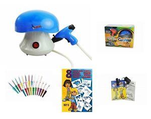 Malinos-Blopens-Airbrush-Set-XXL-fuer-Kinder-mit-20-Stiften-Schablonen-blau
