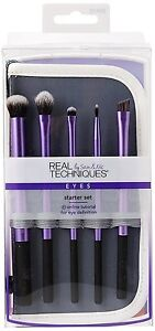 real techniques starter makeup brush set with 2in1 case