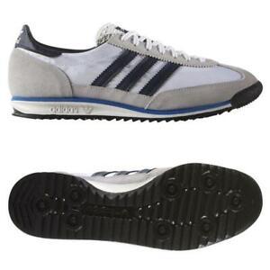 Détails sur Adidas Homme ORIGINALS SL 72 Vintage Baskets Baskets Chaussures Blanc Retro Neuf afficher le titre d'origine