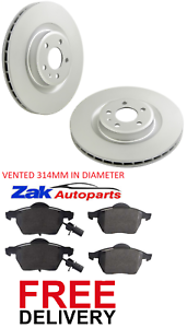 Pour-Audi-A4-B8-1-8-T-2-0-T-FSI-TDI-08-15-Avant-2-Disques-De-Frein-amp-Patins-NEUF