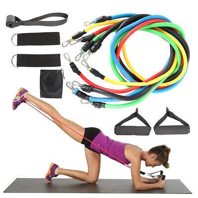 11tlg//Set Widerstandsbänder Gymnastikband Fitnessbänder Resistance Expander Yoga