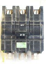 FPE FEDERAL PACIFIC STAB-LOK TYPE NB CIRCUIT BREAKER 3 POLE 20AMP 240VAC BOLT ON