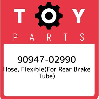 FLEXIBLE 90947-02614 FOR REAR BRAKE TUBE, NO.2 9094702614 Genuine Toyota HOSE