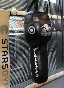 GENUINE-Fairtex-Muay-Thai-Kick-Boxing-K1-MMA-Leather-Angle-Heavy-Bag-HB13-UnFill