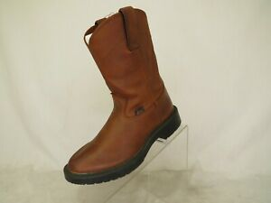 Justin-Brown-Leather-Cowboy-Western-Roper-Boots-Little-Kids-Youth-Size-11-5-D