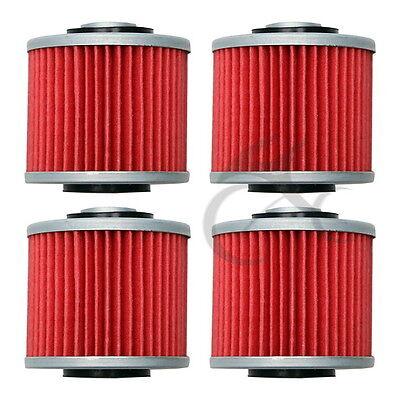 4 X Oil Filter For YAMAHA XV400 XVS400 XVS650 V STAR XV535 VIRAGO New
