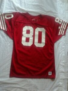 San Francisco 49ers  80 Jerry Rice Mens Size Large Throwback Wilson ... 3c431fb9d