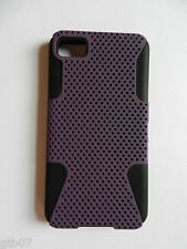 Blackberry Z10 2 in1 Perforated Hybrid Hard Case Cover Soft Silicone Rubber Gel
