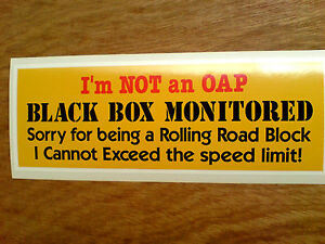 1x BLACK BOX MONITORED DECAL CAR SPEED STICKER WINDOW