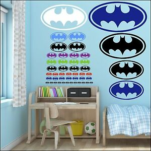 Image Is Loading Small Batman Bat Man Logo Wall Sticker Choice