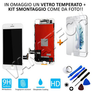 LCD-DISPLAY-TOUCH-SCREEN-CON-FRAME-APPLE-IPHONE-7-PLUS-BIANCO-SCHERMO-GLS-48H