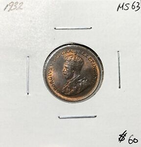 Canada-1932-One-Cent-1-Cent-MS63