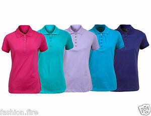 La imagen se está cargando Nuevas-senoras-para-mujer-Pique-Camisa-Polo-Damas - b5162e109dbdf