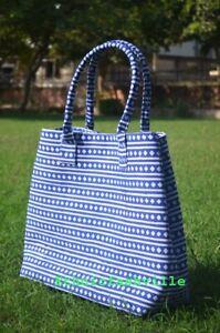 Indian-Cotton-Handbag-Mandala-Satchel-Lady-Tote-Bag-Block-Purse-Printed-Women