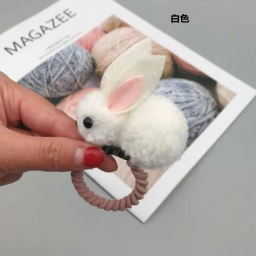 Lovely Rabbit Kids Girls Elastic Rope Hair Ties Pom Ball Head Band Hairband Gift