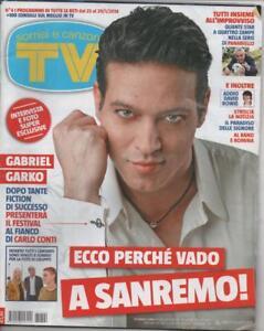 2016 01 29 - SORRISI E CANZONI TV N.04 29/01/2016 GABRIEL GARKO SANREMO - Italia - 2016 01 29 - SORRISI E CANZONI TV N.04 29/01/2016 GABRIEL GARKO SANREMO - Italia
