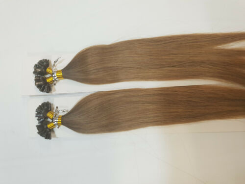 100% human hair Nail Tip Keratin bond Extension colour OMBRE BROWNBLOND