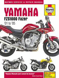 Haynes-Manual-for-Yamaha-FZS1000-Fazer-2001-2005-owners-workshop-HM4287