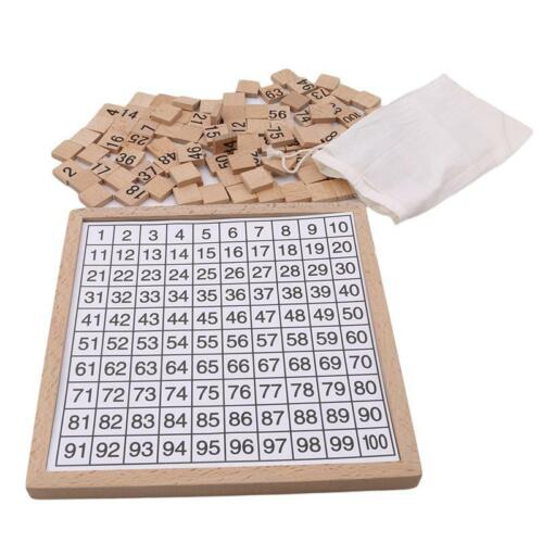 Numbers Brain Game Wooden Toys Gifts Cognitive Training Montessori Children O3