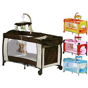 babybett kinder baby reisebett bett laufstall neu luxus ebay. Black Bedroom Furniture Sets. Home Design Ideas