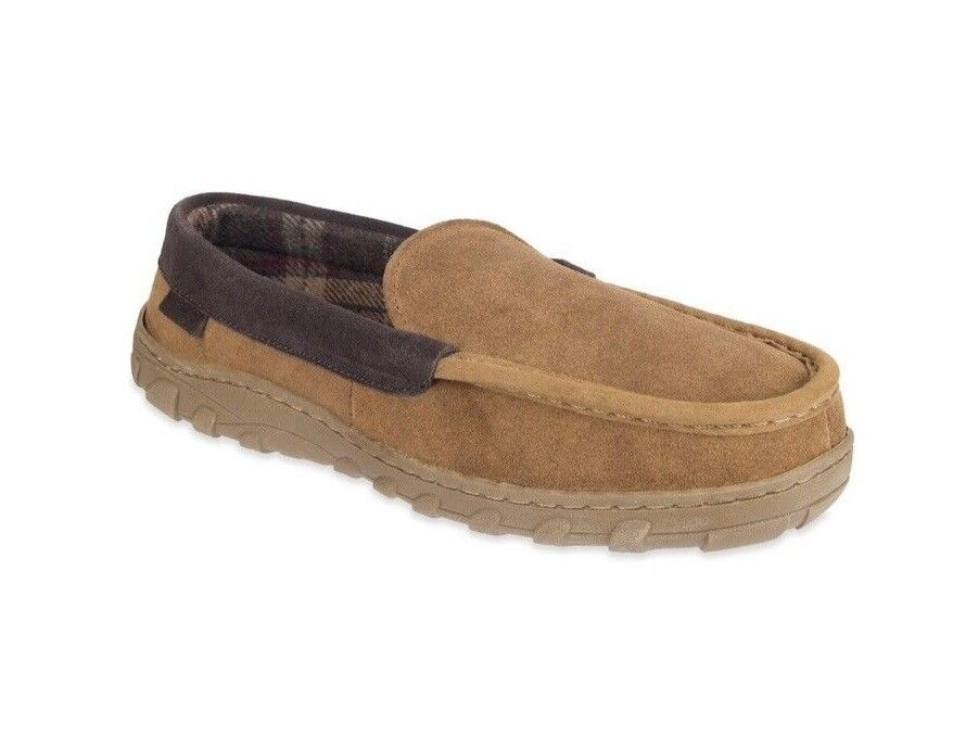Men's Chaps Suede Venetian Moccasin Slippers XLarge (11.0 - 12.0) Tan