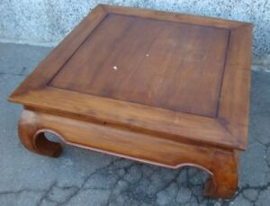 Tavolino Basso Antico.Dettagli Su Tavolino Tavolo Basso Legno Teak Indiano Quadrato Antico Viaggiando Nel Tempo