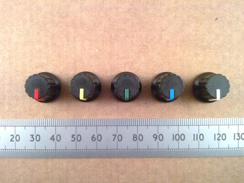 Varios Colores Perilla de control de mezclador de plástico duro para 6mm T18 Eje Acanalado ollas