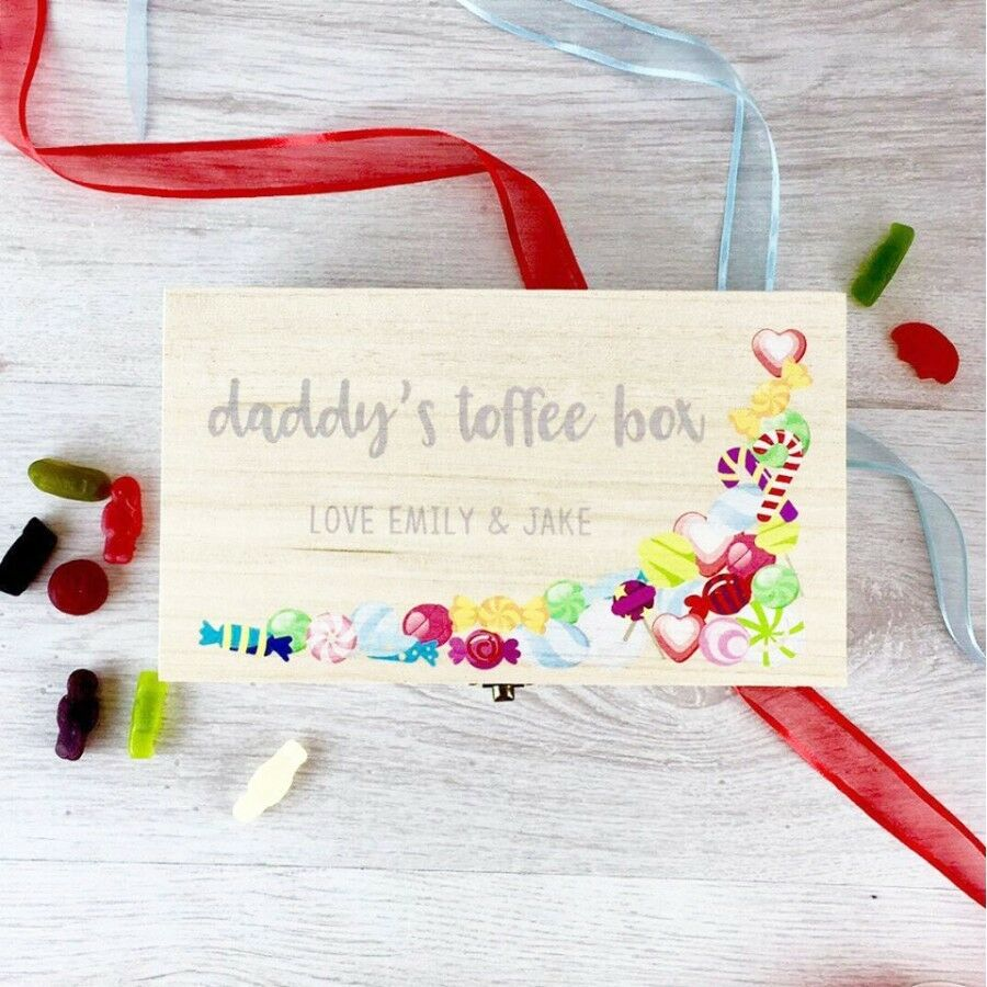 Fathers Day Personalised Toffee Box Mothers Day