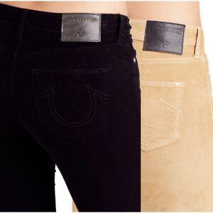 b3075816d25a True Religion Women s Super Skinny Crop Capri Corduroy Pants