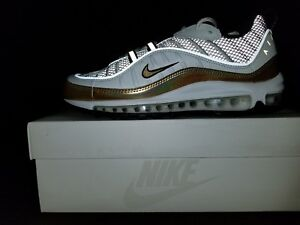 brand new f935f bbf47 Image is loading Nike-Air-Max-98-Gold-sz-US-8-