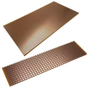 PCB Stripboard Vero Type Universal Copper Printed Circuit Board Various Sizes UK
