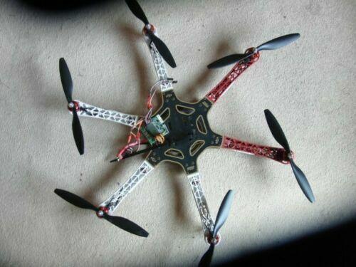 DJI F550 RC Hexacóptero KK2 controlador de vuelo 30A opto CES 920Kv motores drone